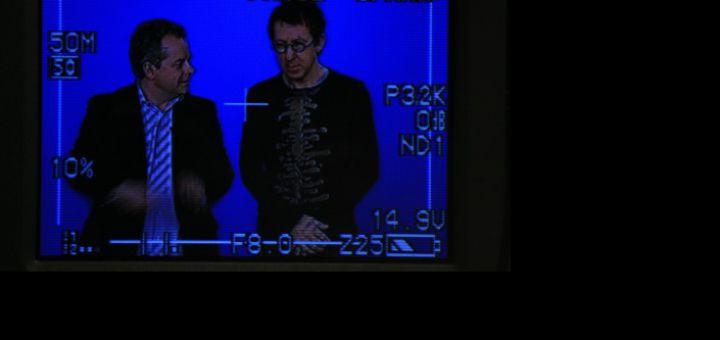 David Hairion et Jamy Gourmand préparant une vidéo